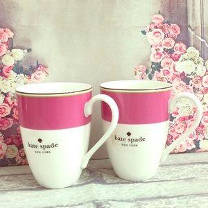 🆕♠️Kate Spade New York Set/2 Mugs
